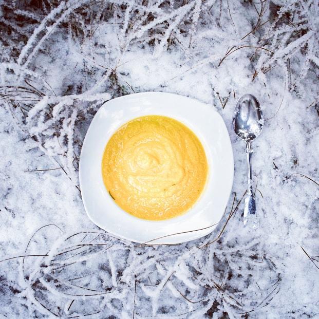 Rezept - Winterliche Kürbissuppe mit Curry